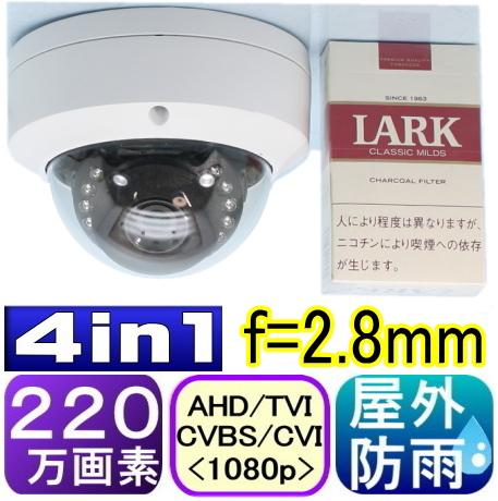 【SA-51338】ドーム型 防犯カメラ・監視カメラAHD-H(1080P) 220万画素SONY製CMOS f=3.6mm