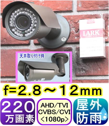 51591,屋外用防犯カメラ バリフォーカルタイプ
